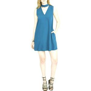 RACHEL ROY Womens Sleeveless Choker Mini Dress